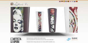 Website of the youg mosaic artist Alessio Nin.