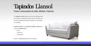 Webpage for Tapizados Llansol.