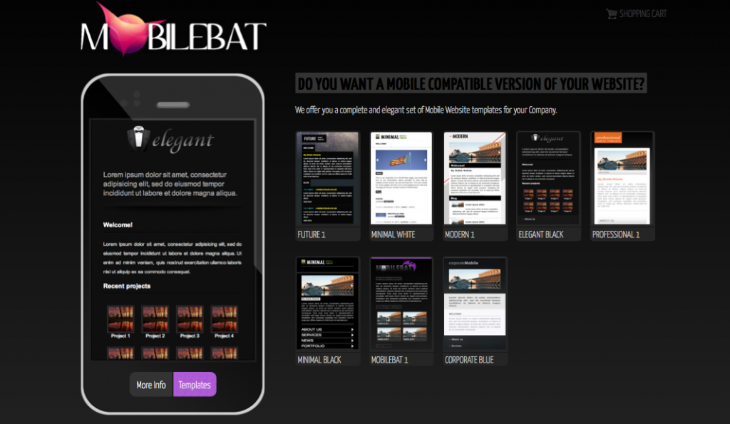 Mobilebat – Mobile Website Templates | Luca Martincigh